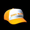Trucker hat topper icon orange