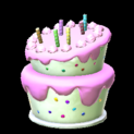 Birthday cake topper icon pink