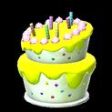 Birthday cake topper icon saffron
