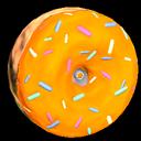 Doughnut wheel icon orange
