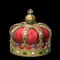 Royal crown topper icon crimson