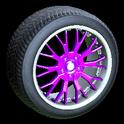 Sunburst wheel icon purple