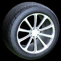 Dieci wheel icon titanium white