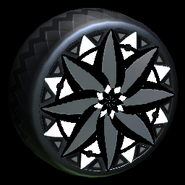 Mandala wheel icon black