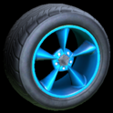 Stern wheel icon sky blue