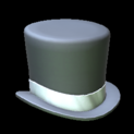Top hat topper icon titanium white