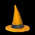 Witchs hat topper icon orange