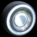 Ratrod wheel icon titanium white