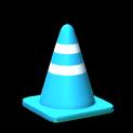 Traffic cone topper icon sky blue