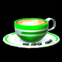 Latte topper icon forest green