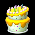Birthday cake topper icon orange