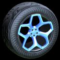 Spyder wheel icon cobalt
