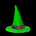 Witchs hat topper icon forest green