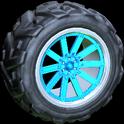 Almas wheel icon sky blue