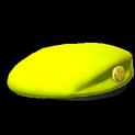 Beret topper icon saffron