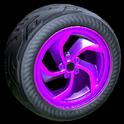 Vortex wheel icon purple