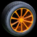 Dieci wheel icon orange
