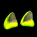 Wildcat ears topper icon lime