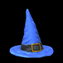 Witchs hat topper icon cobalt