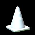Traffic cone topper icon titanium white