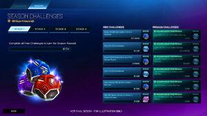 Challenge Season Screen