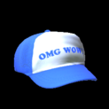 Trucker hat topper icon cobalt