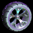 Wrench-Roller wheel icon purple