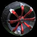 Picket wheel icon crimson
