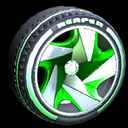 Reaper wheel icon forest green