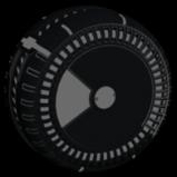 Shortquarter Inverted wheel icon