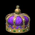 Royal crown topper icon purple
