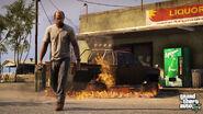 Trevor destroying a truck