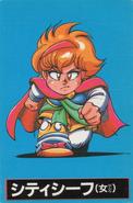 City Thief Female Front (RS2 Famicom Card)