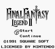 FFLII Title Screen