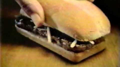 McDonald's BeefSteak Sandwich commercial 1980s