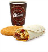 McDonald's McSkillet McCafe and Hash Browns
