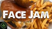 Face Jam TGI Friday's Loaded Cheese Fry Burger