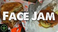 Face Jam Popeyes Chicken Sandwich