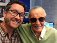 Burnie and Stan Lee