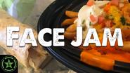 Face Jam Taco Bell Buffalo Chicken Nacho Fries & Buffalo Chicken Nacho Fries Burrito