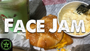 Face Jam Arby's Fish 'N Cheddar Sandwich & Mint Chocolate Shake