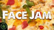 Face Jam Domino's Chicken Taco Pizza & Cheeseburger Pizza