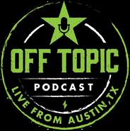 Off Topic Podcast logo black