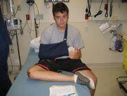 Miles hospitalized