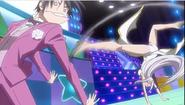 Kōtarō having his butt kikked