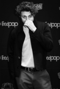Black and White Image of Michael Vlamis at NYCC 2019