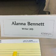 Alanna Bennett name card