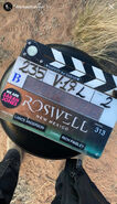 RNM 3.13 clapperboard from Michael Trevino's instagram