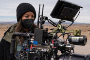 RNM 307 promo BTS Heather Hemmens camera