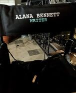 Alanna Bennett writer's chair